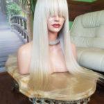 Wera – Peruka naturalna blond z grzywką 60cm