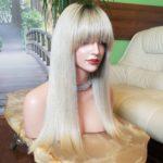 Francesca – Peruka naturalna stonowany blond z odrostem