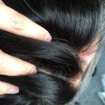 Topper MARLENA – Włosy naturalne z mikroskórą Czarny #1b 30cm