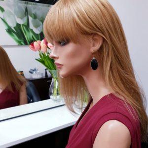 Paulina – Peruka naturalna ruda niżej ramion z grzywką