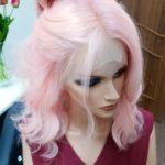 Anella – Peruka naturalna różowa Barbie Pink