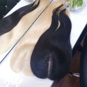 Topper MARLENA – Włosy naturalne słowiańskie Czarny #1b 50cm