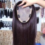 Topper BEATA – Włosy naturalne z mikroskórą Brąz #2 30cm
