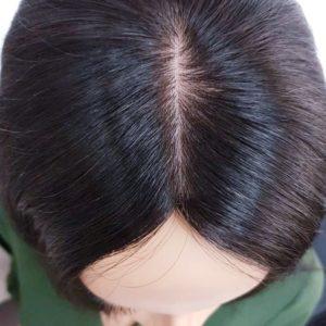 Topper MARLENA – Włosy naturalne słowiańskie Czarny #1b 35cm