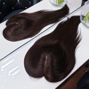 Topper WIKTORIA włosy naturalne Brąz #4 30cm
