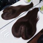Topper WIKTORIA – włosy naturalne Brąz #4 45cm