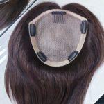 Topper WIKTORIA – włosy naturalne Brąz #4 35cm