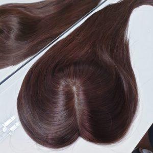 Topper WIKTORIA – Włosy naturalne Brąz #4 40cm