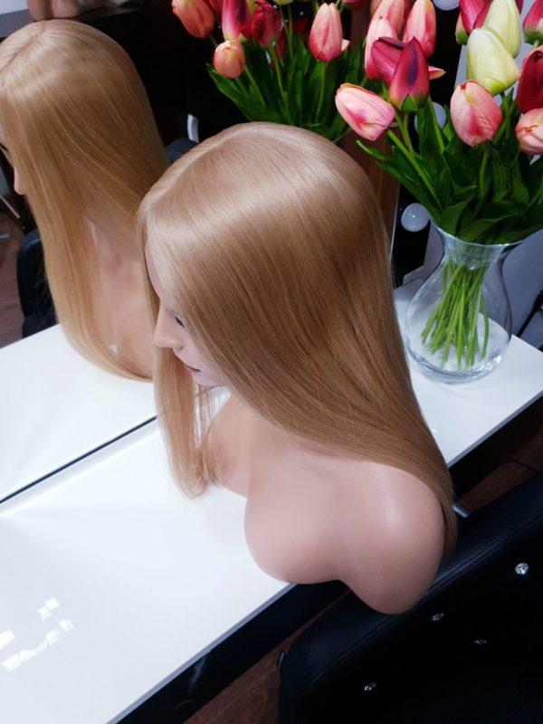 Tupet z włosów słowiańskich z mikroskórą 50cm #24
