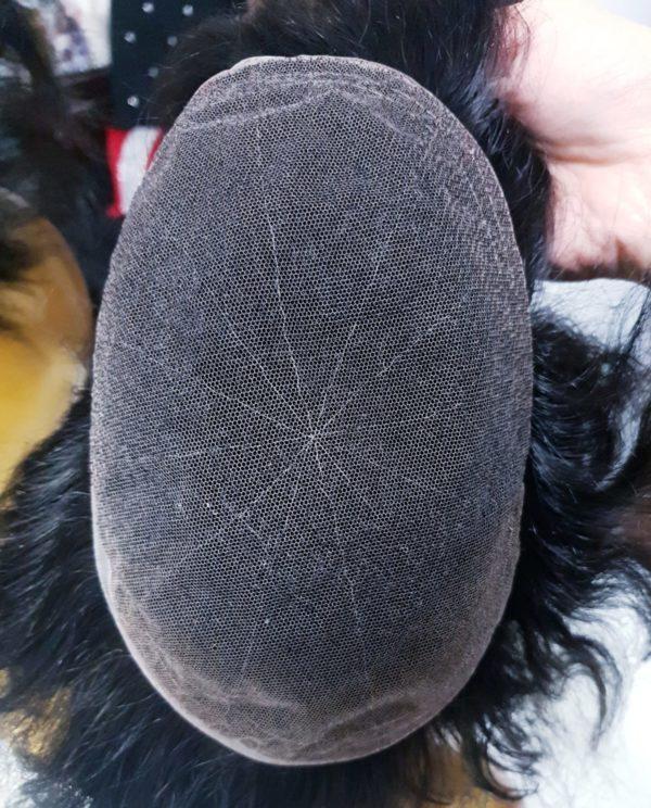Peruka naturalna tupet męski 15cm Czarny #1b