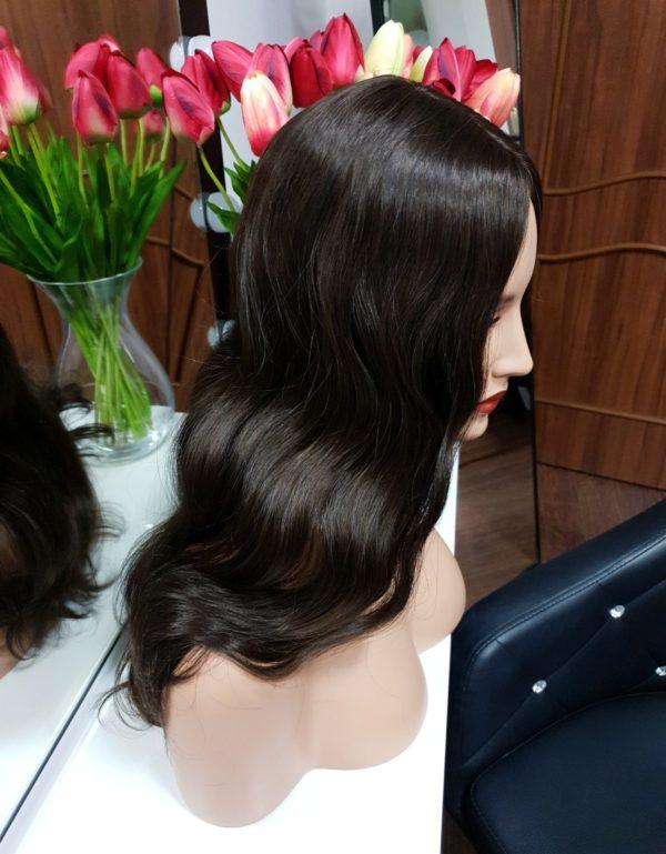 Tupet z włosów słowiańskich z mikroskórą 50cm #2