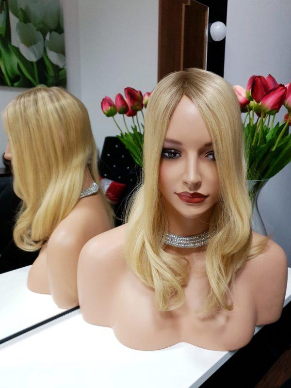 Topper naturalne włosy Ombre Blond 35cm