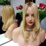 Topper SCARLETT – Naturalne włosy ombre blond 35cm