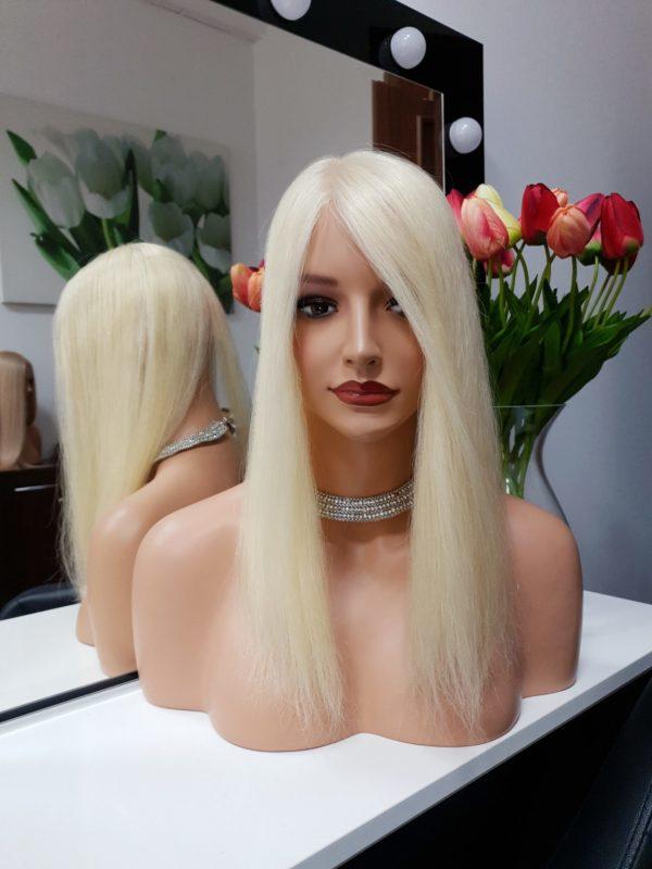 Topper z włosów słowiańskich 35cm Blonde