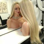 Topper INGA –  Włosy naturalne Blond 60cm