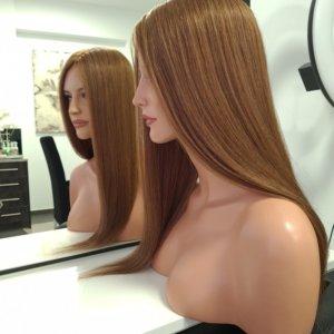 Topper JULIANA –  Włosy naturalne Jasny Brąz 45cm
