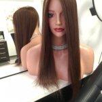 Topper JULITA –  Włosy naturalne Brąz 45cm