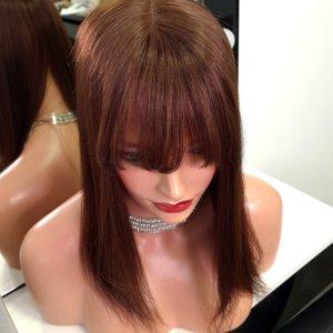 Topper RITA z grzywką –  Włosy naturalne Brąz 40cm