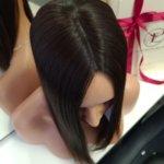 Topper DOROTA –  Włosy naturalne Czarny #1b 40-45cm