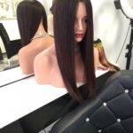 Topper MARGERITA –  Włosy naturalne czarne 60cm