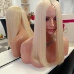 Topper CHARLOTTE –  Włosy naturalne Blond 50cm