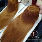 Topper Vivian –  Włosy naturalne Czerwień 60cm