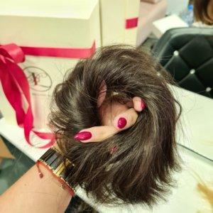 Gumka do włosów. Włos naturalny. Kolor Brąz #4